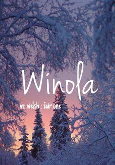 Winola - unique baby girl name!