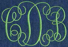 441 Interlocking Satin Stitch Monogram - Jolson's Designs