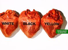 """Benetton Clothing: """"HEARTS"""" Print Ad  by United Colors Communication"""