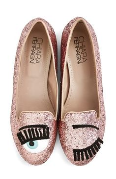 Free shipping and returns on Chiara Ferragni 'Flirting' Flat (Women) at Nordstrom.com. Fun, flirty, feminine and fabulous: Available in luxe velvet or shimmery glitter fabric, this insouciant slipper features a glossy, appliquéd winking eye complete with a pair of lush suede lashes.