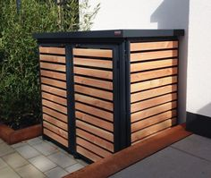 Garbage Can Storage, Garbage Shed, Bin Storage, Outdoor Sheds, Outdoor Spaces, Outdoor Living, Outdoor Decor, Backyard Projects, Outdoor Projects