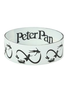 Disney Peter Pan Infinity Rubber Bracelet from Hot Topic. Saved to Quick Saves. Peter Pan Jewelry, Rubber Band Bracelet, Rubber Bracelets, Goth Accessories, Infinity Jewelry, Peter Pan Disney, Vogue, Disney Jewelry, Accessories