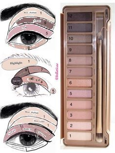"Urban Decay ""Naked 3"" palette Look"