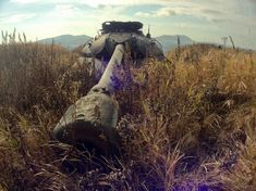 Abandoned Russian tanks on Shikotan island in Japan. Tank Wallpaper, Porto Rico, Tank Armor, Military Armor, Fantasy Landscape, Military History, World War Ii, Wwii, Cool Pictures