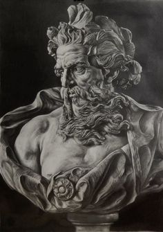 Zeus Tattoo, Statue Tattoo, Dark Tattoo, God Tattoos, Time Tattoos, Sleeve Tattoos, Tattoo Sketches, Art Sketches, Art Drawings