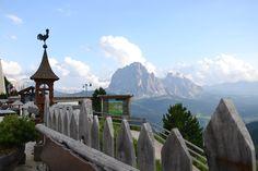 Toller Aussichtspunkt von Col Raiser zum Langkofel!