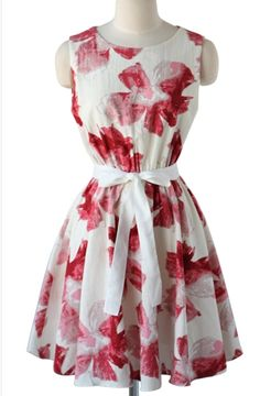 Floral printed sleeveless chiffon dress