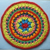 Crochet Mandala Wheel made by Sally, Merseyside, UK for yarndale.co.uk