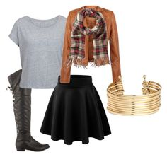 """Fall Weather"" by momo-free on Polyvore featuring JustFabulous and H&M"