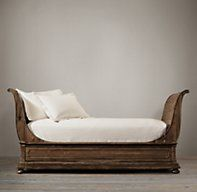 St. James Sleigh Daybed from Restoration Hardware - use instead of a sofa pushed up against a wall??