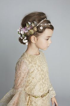 First communion hair do! Little princess . Flowers