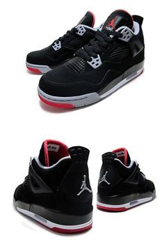 NIKE AIR JORDAN 4 RETRO GS blk/c gry f red 408452-089