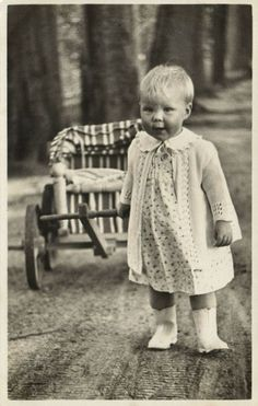 Princess and Queen Beatrix of The Netherlands 1939.  What a precious picture of this little princess!  Beatrix was one of four daughters born to Queen Juliana, who had been an only child of an only child.  Her family definitely ran to producing girls.