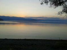 Big Prespa Lake & Psarades Village In Natura, Lakes, Greece, National Parks, Sunset, Big, Nature, Travel, Naturaleza