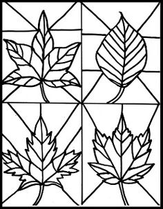 Make it easy crafts: Kid's Craft- stained glass leaves free printable - Kunstunterricht - Autumn Crafts, Fall Crafts For Kids, Autumn Art, Kids Crafts, Easy Crafts, Art For Kids, Arts And Crafts, Classe D'art, Fall Coloring Pages