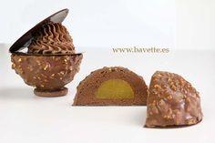 Crocante de chocolaye y mango