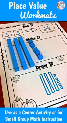 Free!  Use these math mats to teach concepts of place value with two-digit numbers.