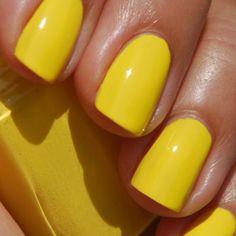 Essie Shorty Pants yellow nail polish | beauty | Pinterest