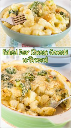 Baked Four Cheese Gnocchi w/Broccoli   www.joyineveryseason.com