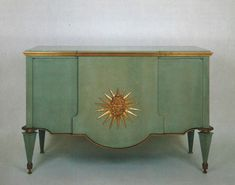 French Art Deco: Celadon green lacquered Chest of drawers by André ARBUS , Art Deco Furniture, Cabinet Furniture, Painted Furniture, Furniture Design, Furniture Vintage, Art Nouveau Design, Green Rooms, Objet D'art, Room Interior