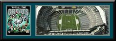 Philadelphia Eagles Lincoln Financial Field Aerial View Large Stadium Poster With Team Photo