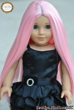 """Pink Bubblegum"" custom doll wig looks amazing on Marie Grace"