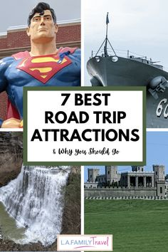 7 Best US Road Trip Attractions - all across the USA there are wonderful places to stop during your family road trip to see memorable road trip attractions!