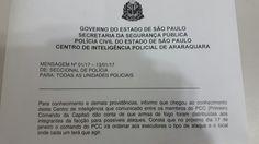 """Governo de SP desqualifica alerta da polícia sobre ataques do PCC desta 3ª -   Umalerta sobre """"possíveis ataques"""" do PCC (Primeiro Comando da Capital) no Estado, elaborado pela polícia de São Paulo, circula desde a semana passada com as informações de que a facção criminosa teria distribuído armas de fogo para desencadear novas ações, a partir desta terça-feira (17), a e - http://acontecebotucatu.com.br/nacionais/governo-de-sp-desqualifica-alerta-da-policia-s"""