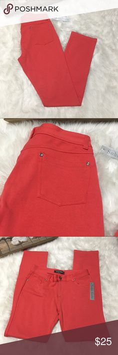 Soho Girls Salmon Pink Skinny Jeggings Sz XL Gorgeous salmon pink Jeggings in excellent brand new with tags condition. Size XL SUPER STRETCHY' Soho Girls Pants Skinny