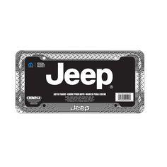 chrome diamond jeep license plate frame