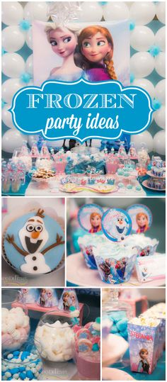Here's a pretty Frozen party, check out the balloon backdrop! See more party ideas at CatchMyParty.com! Frozen Themed Birthday Party, Girls Birthday Party Themes, Little Girl Birthday, Disney Birthday, 6th Birthday Parties, Frozen Party, Balloon Backdrop, Party Cakes, Spa Party