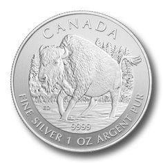 Canadian Silver 1 oz Wood Bison 2013 | Golden Eagle Coins