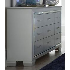 Allura Silvery Gray Dresser