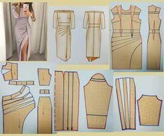 """⋆✩❈ 🎀•𝒜𝓉𝑒𝓁𝒾𝑒 𝒟𝑒𝓋𝒶•🎀❈✩⋆ on Instagram: """"Моделируем нарядное платье с открытыми плечами. * ⭐Если сохраняете в закладках, то обязательно оставляйте в комментариях хотя бы смайлик🙏🏻❤…"""" Remake Clothes, Diy Clothes, Skirt Patterns Sewing, Clothing Patterns, Diy Fashion Hacks, Underwear Pattern, Sewing Blouses, Fashion Sewing, Pattern Fashion"""