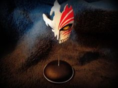 Ichigo mask (Bleach) by Bauxi Bleach, Artisan, Deviantart, Painting, Decorations, Painting Art, Paintings, Paint, Draw