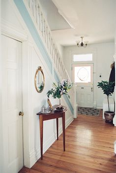 what a nice airy entrance @ A Victorian Home With Countless Treasures in Denver, CO | Design*Sponge