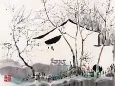 Wu Guanzhong 吴冠中 August 29, 1919 – June 25, 2010)[was a contemporary Chinese painter widely recognized as a founder of modern Chinese painting.
