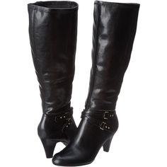 Naturalizer Byron Wide Shaft Boot Women's Boots, Black ($56) ❤ liked on Polyvore