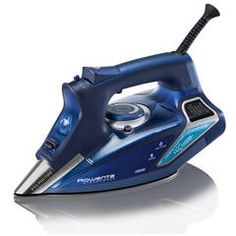 Rowenta Steam Force Professional Electronic Steam Iron with Stainless Steel Soleplate, Blue. For powerful steam and professional-quality results, turn to the Rowenta SteamForce steam iron. Steam Iron Reviews, Best Steam Iron, Best Iron, Rowenta Steam Iron, Ferro A Vapor, Fabric Steamer, Clothes Steamer, 230, How To Clean Iron