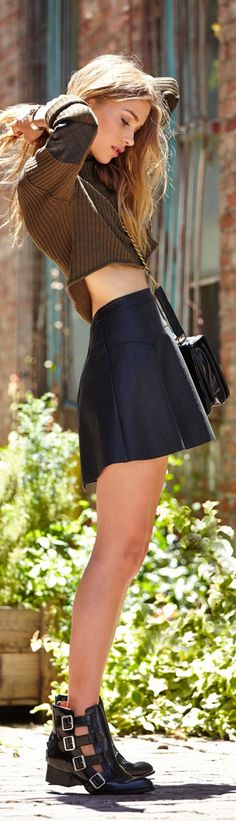 Nasty Gal perfect outfit and awesome shoes!! Check out the Nasty Gal Sale here! sale here! http://rstyle.me/~Og3z
