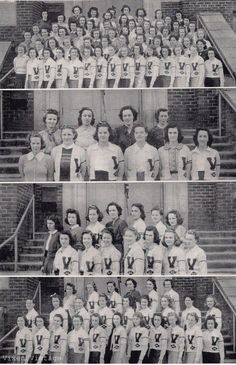 Good old vintage school photos.