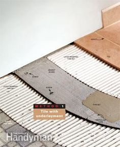 You may be able to tile over an old vinyl floor without tearing it up, saving a lot of time and hassle. This article explains what to look for and how to do decorating before and after interior design decorating design ideas designs Vinyl Flooring Bathroom, Vinyl Sheet Flooring, Luxury Vinyl Tile Flooring, Linoleum Flooring, Bathroom Floor Tiles, Diy Flooring, Flooring Ideas, Floors, Diy Home Repair