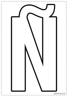 Ñ letras para recortar y pegar guirnalda feliz cumpleaños Doodles, Typography, Printables, Symbols, Letters, Words, School, Fun, Scrap