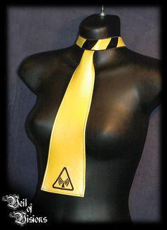 Sound Hazard Tie choker in PVC. £25