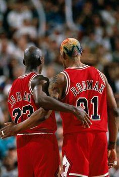 9e30964e3d6386 Michael Jordan and Dennis Rodman Bulls Basketball