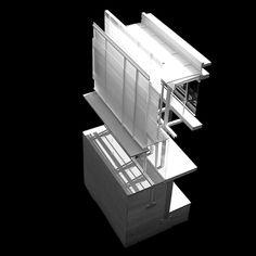 beautiful section model! Architecture Model Making, Concept Architecture, Architecture Details, Public Architecture, Architectural Section, Architectural Models, Urban Ideas, Model Sketch, Arch Model