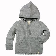 Baby Boy Clothes Burt's Bees Baby - Loose Pique Hoodie, 100% Organic Cotton, Heather Grey Loose Pique, 3-6 Months