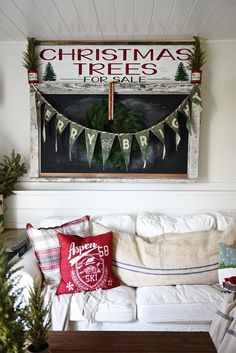 Cozy cottage Christmas home tour.  Love the pops of red and all of the cozy spaces. A must pin for Christmas Decour inspiration.