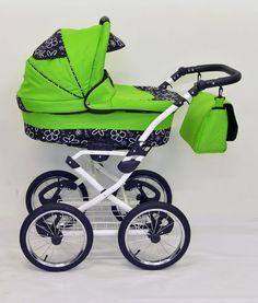 TROJKOMBINACE Luxusní houpací kočárek ELFan klasik na vysokých kolech. S bílým, nebo chromovým rámem. Baby Strollers, Children, Baby Prams, Young Children, Boys, Kids, Prams, Strollers, Child