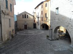 The main piazza, the center of Triora.